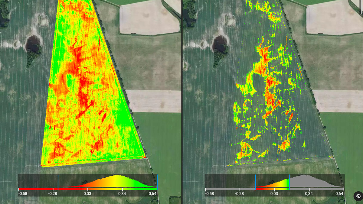 Ndvi map of a field