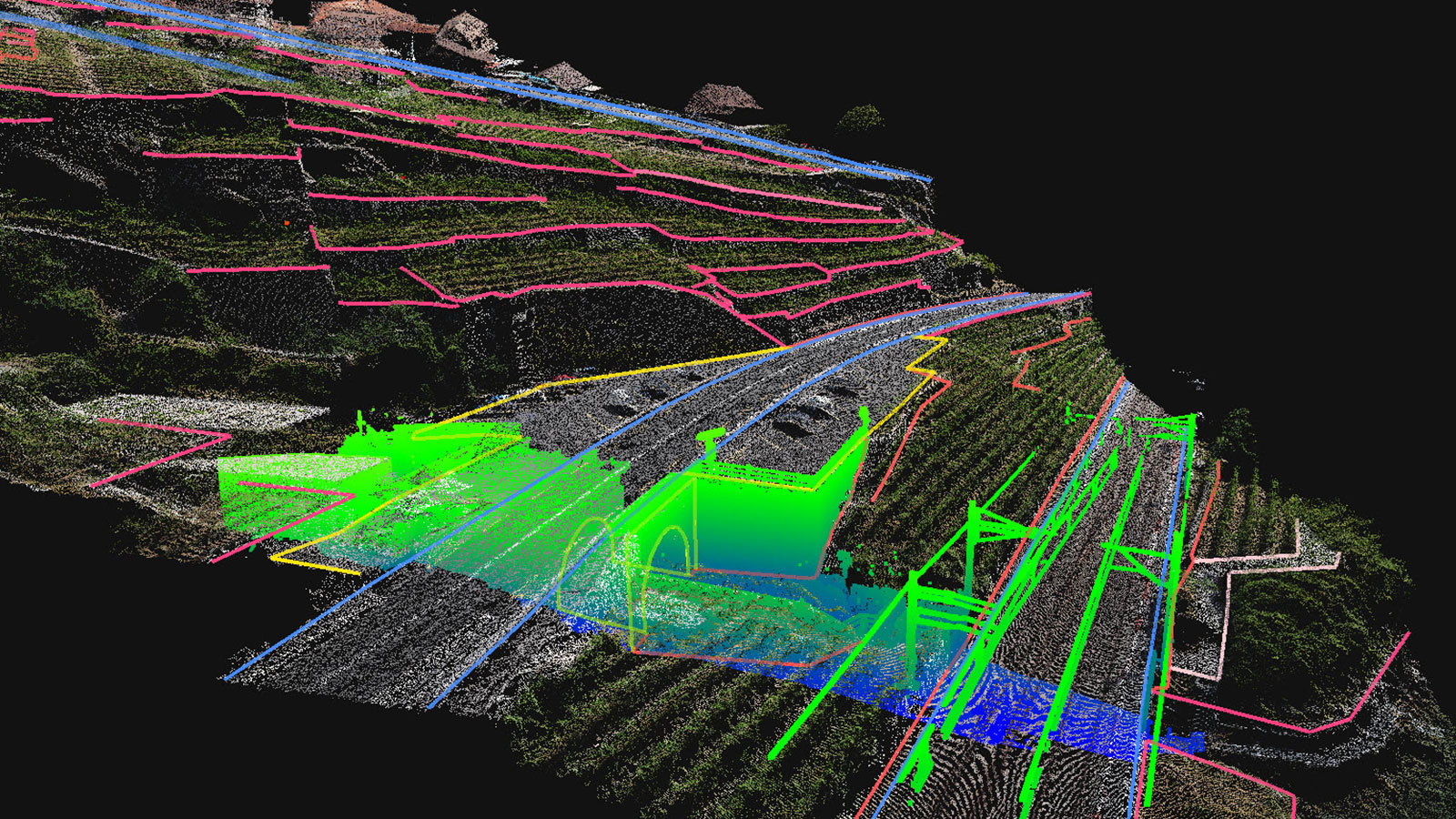 A point cloud in Pix4Dsurvey