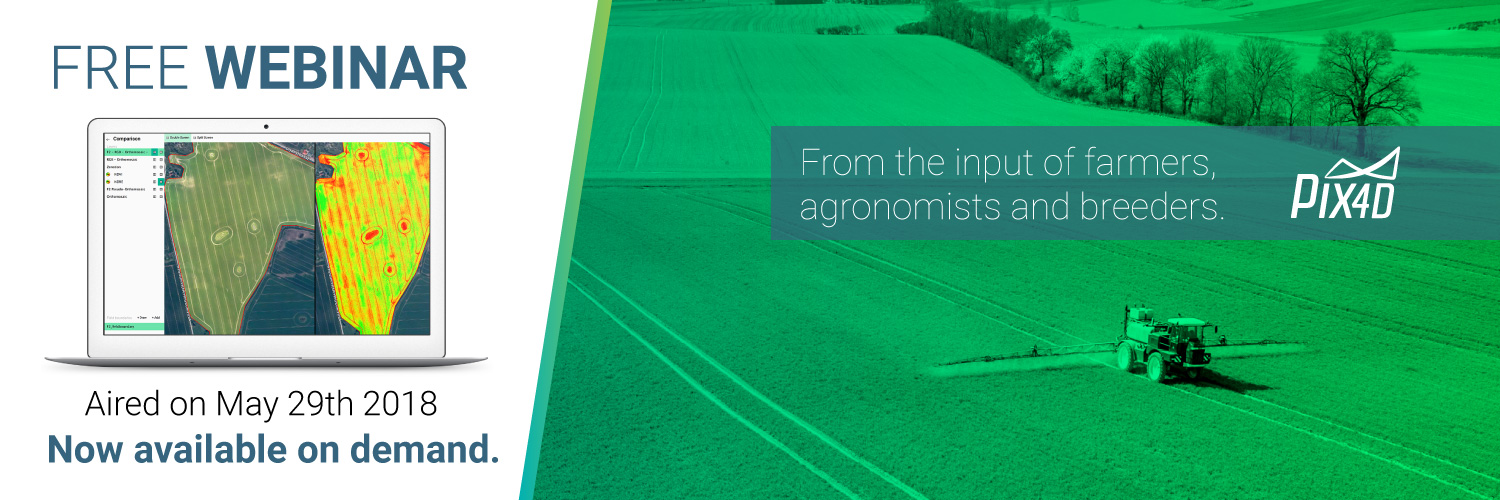 Pix4D webinar drone mapping for agriculture newsletter