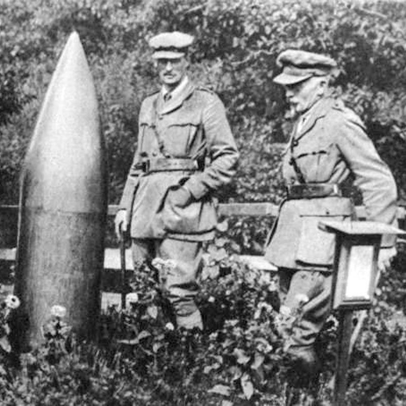 an unexploded bomb in the first world war