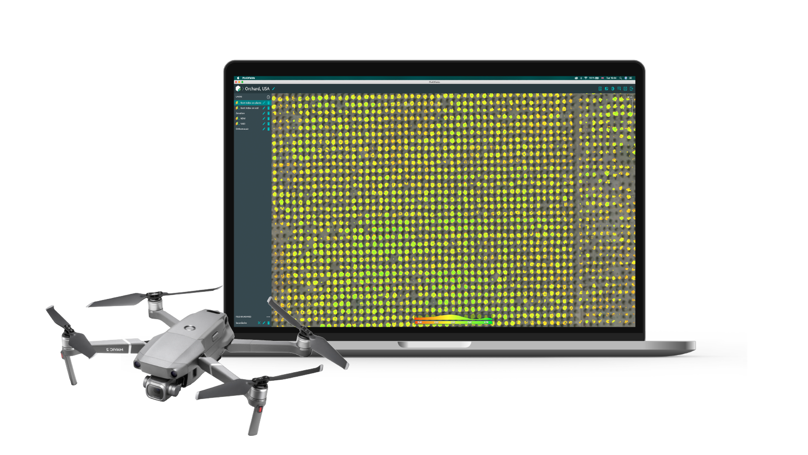 All in one agriculture mapping solution with Pix4dfields software and Mavic 2 Pro drone with RGB sensor