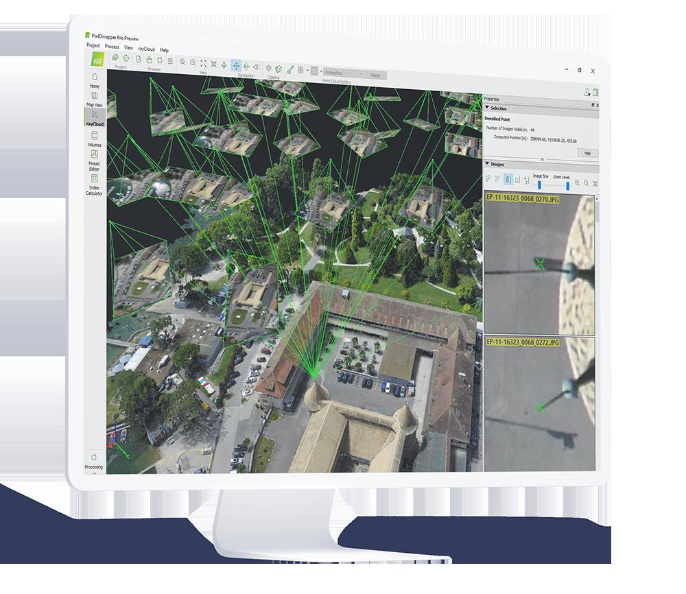 photogrammetry software on a screen
