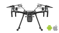 DJI Matrice 210 RTK is the new advanced drone for drone mapping and photogrammetry for use with Pix4Dcapture mobile app