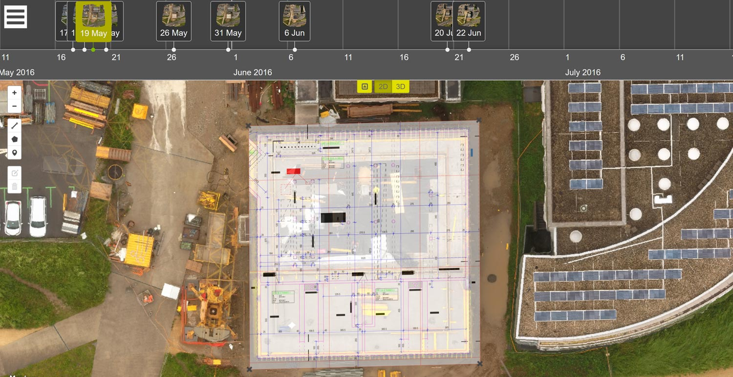 Aerial surveying for Construction sites using drones