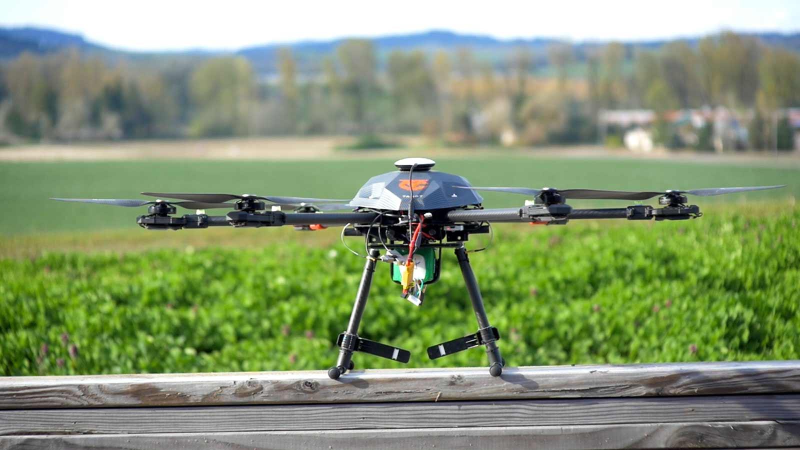 Yamhill Carlton developed their own custom drone