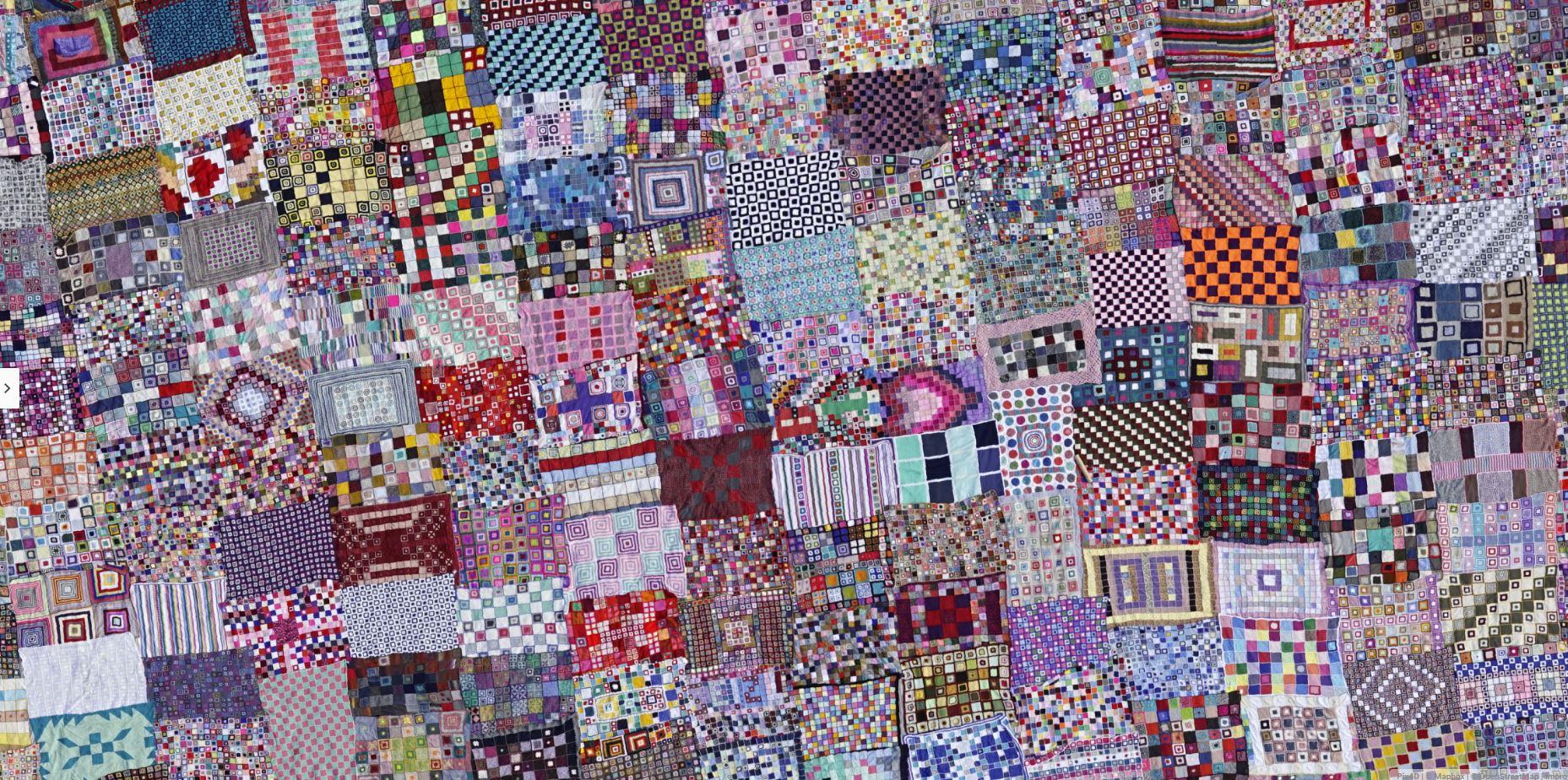 Crochet blanket orthomosaic