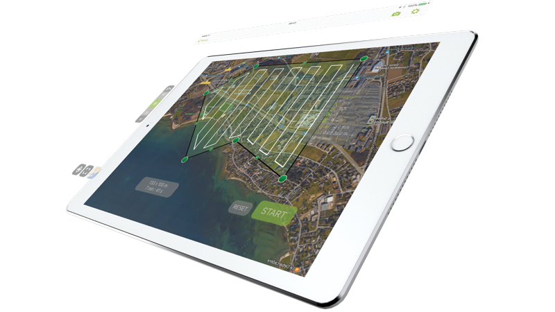 Free drone flight app for mapping and modeling