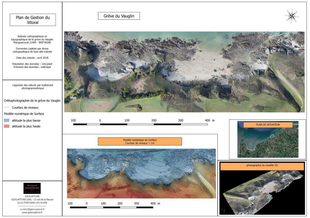 Geological survey of an eroded coastline