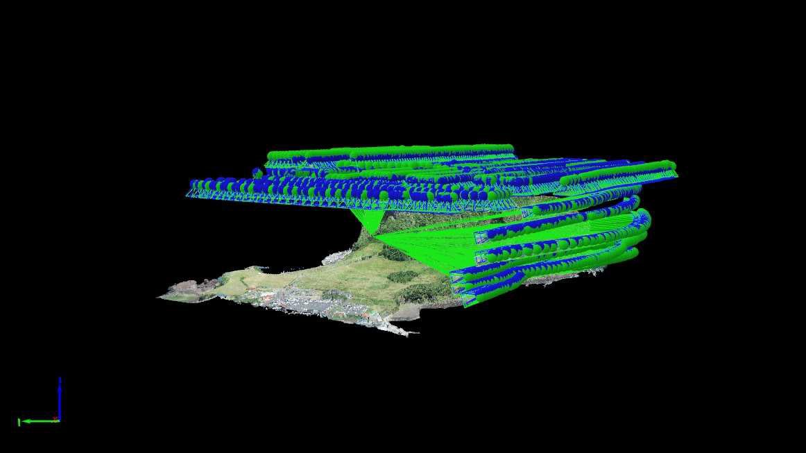 drone-Flight-path-over-jeju-island