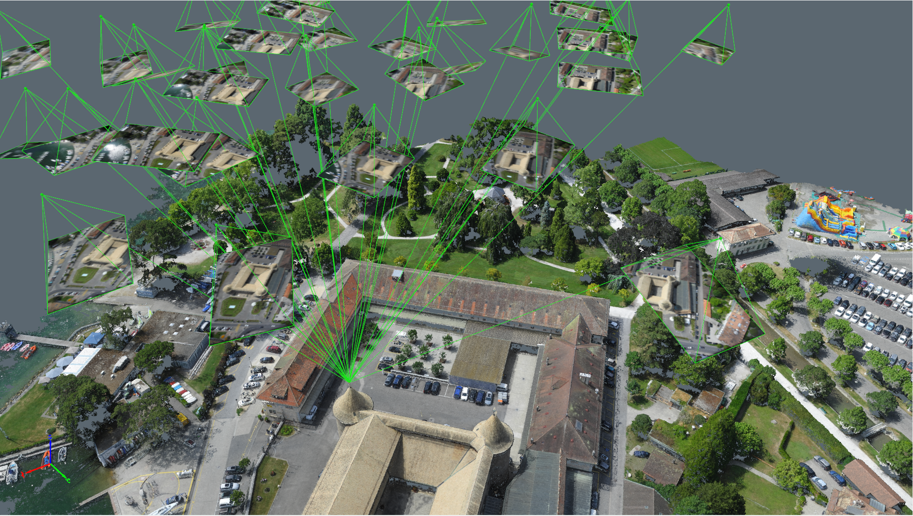 Pix4D's rayCloud can be used to demonstrate the principles of photogrammetry