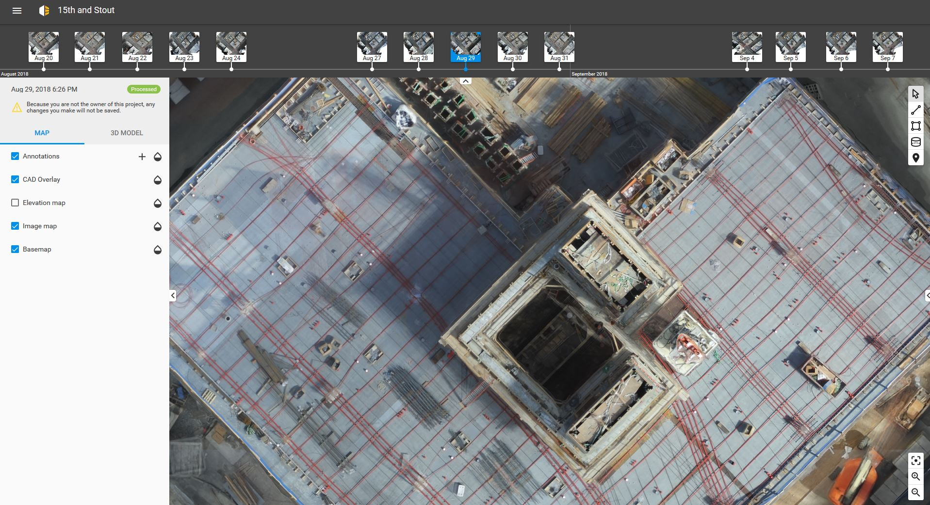 The Beck Group project in Pix4Dbim software