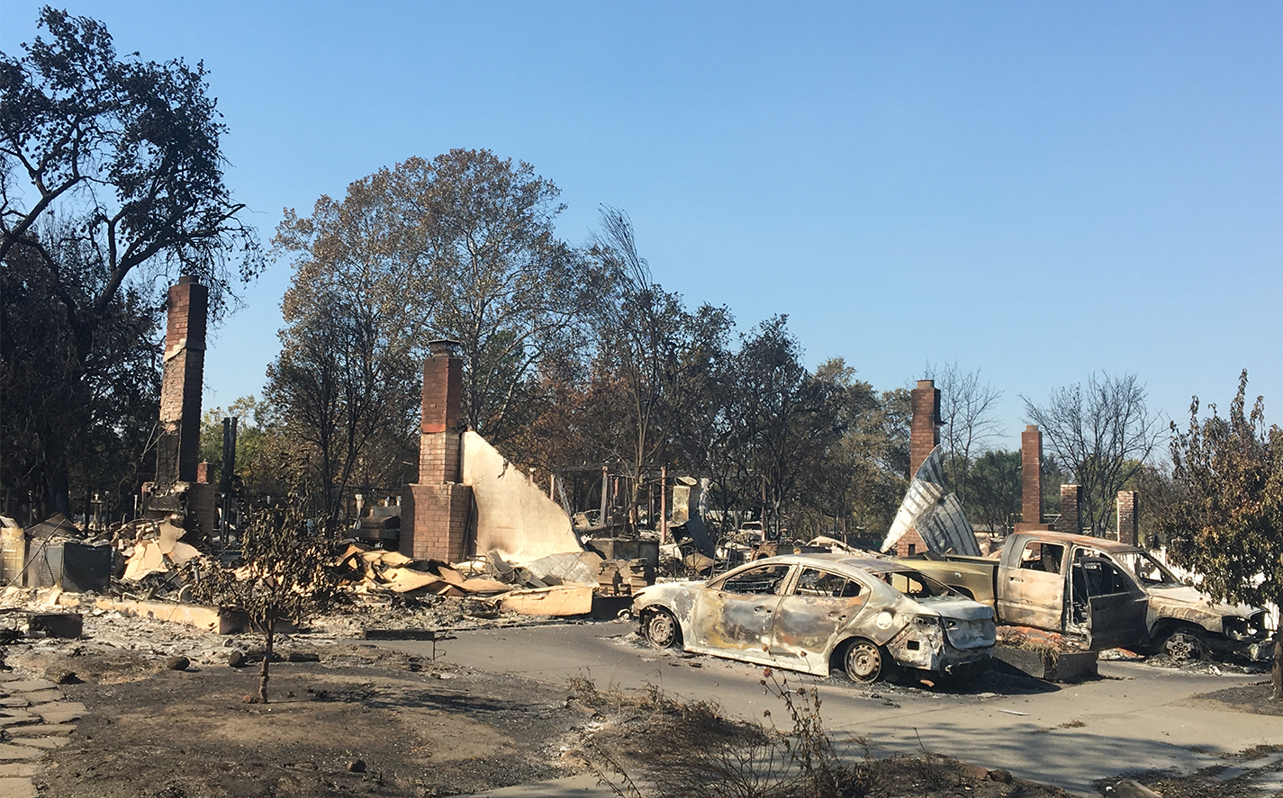 Drone mapping was used to map all the burned cars in Santa Rosa Fire Storm