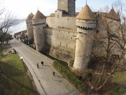 Slightly different view of Chillon taken by drone
