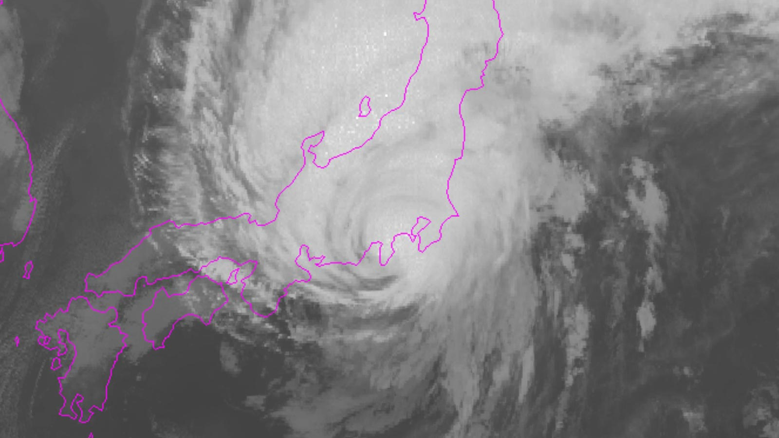 Hagibis typhoon in Japan
