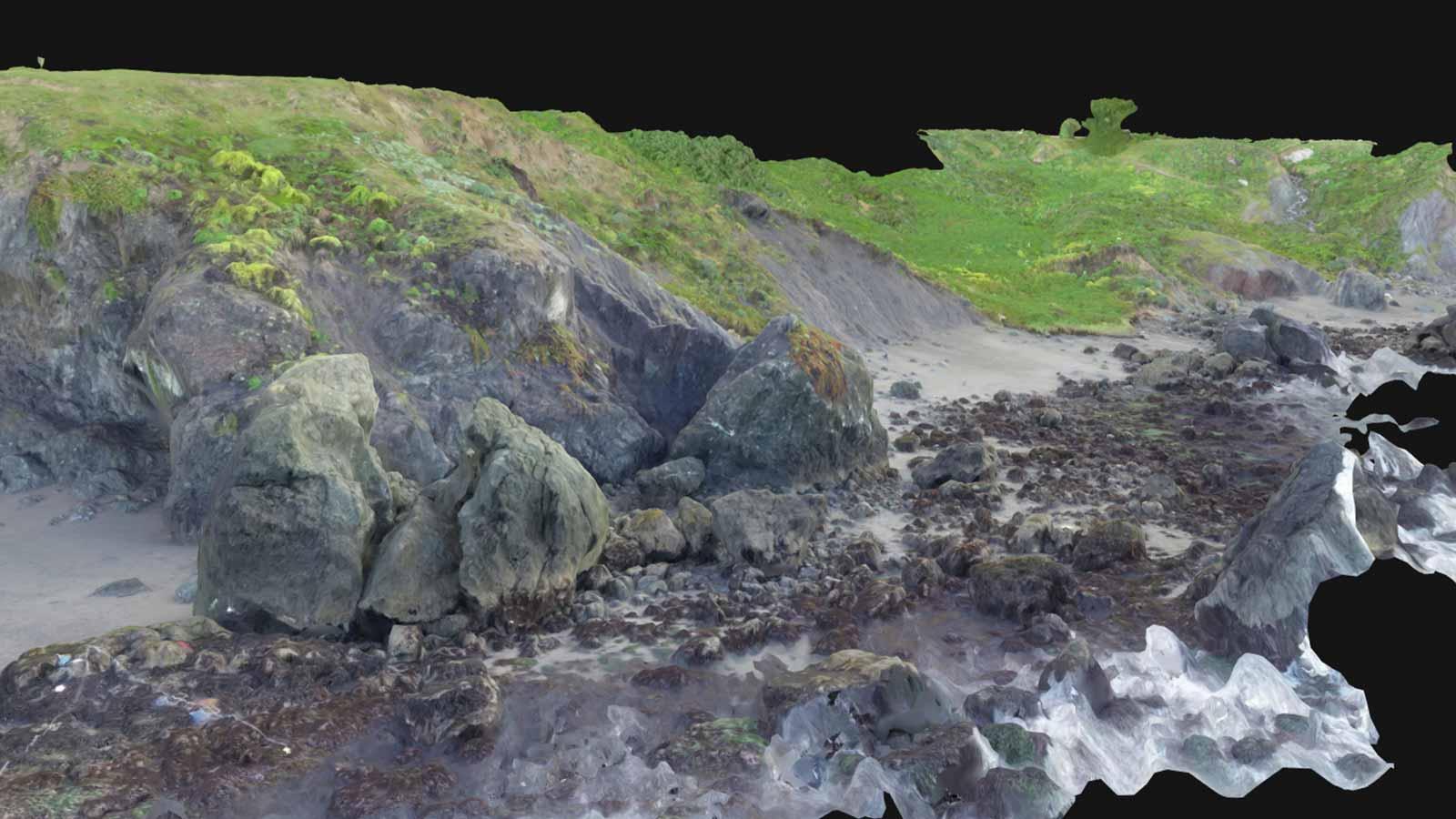 drone-model-of-a-rocky-coastline