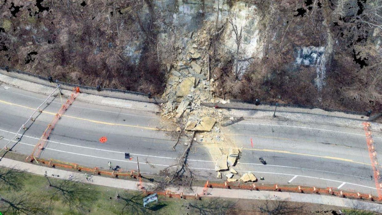 The Wabasha Street rockslide orthomosaic
