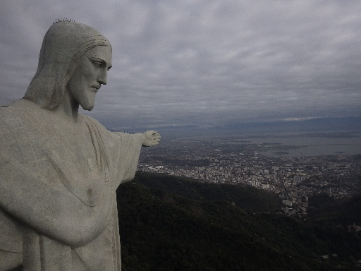 Christ the Redeemer on a cloudy day