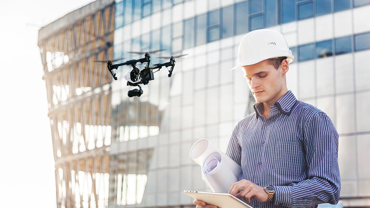 Construction site planning with drones
