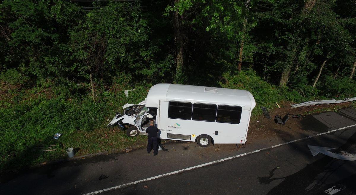 Severe minibus accident documented for crash analysis   Pix4D
