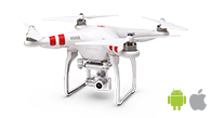 DJI PHANTOM 3 drone flight plan for aerial mapping