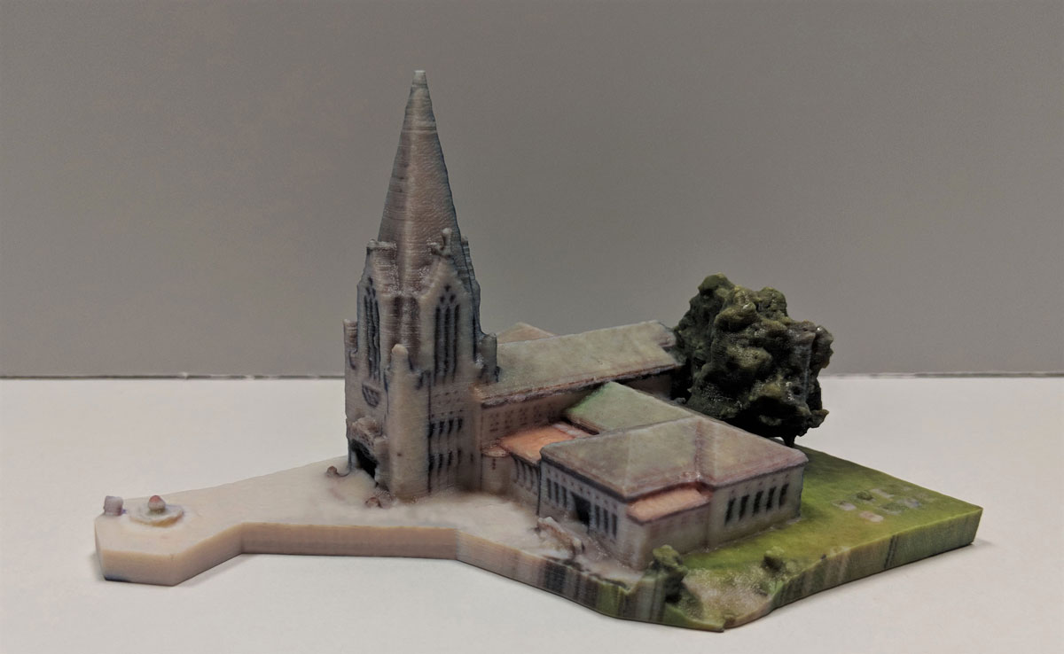 3D model of a church created using rapid prototyping