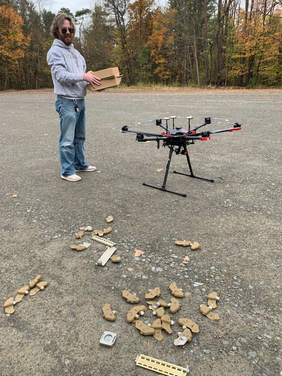 Finding landmines with thermal drone mapping