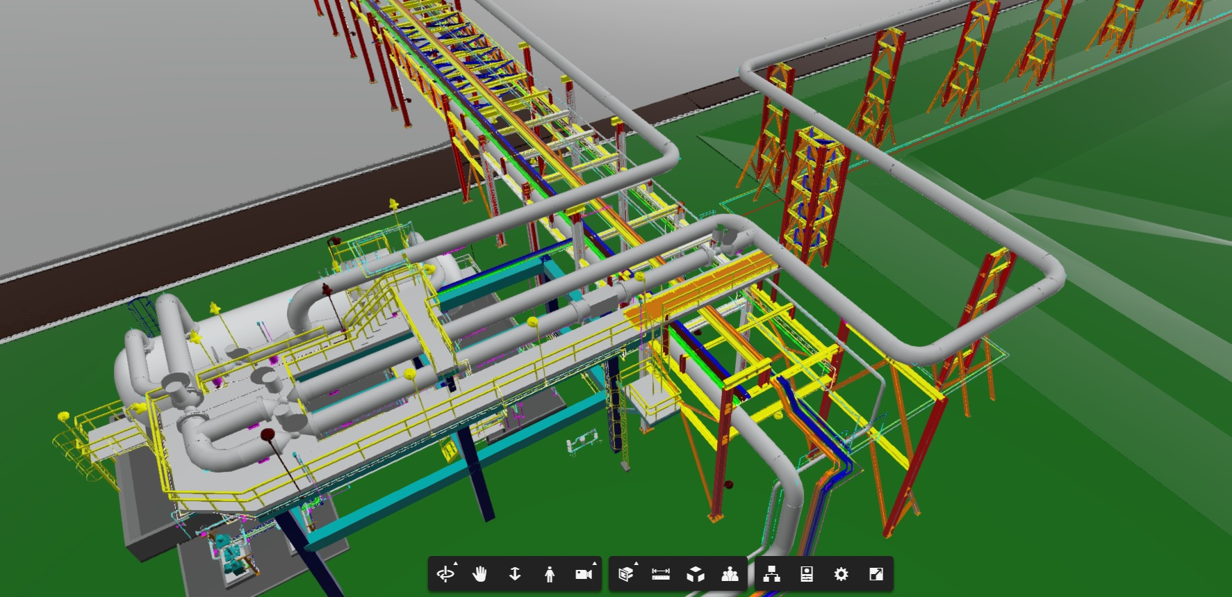 Inspection of a 3D model of an industrial asset