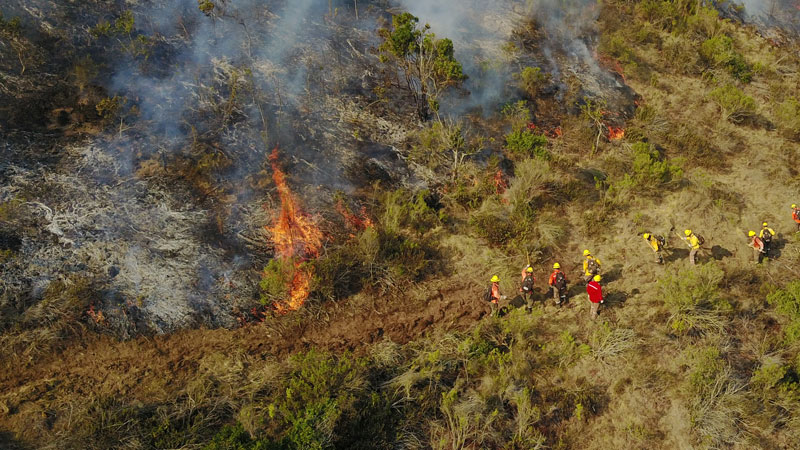 Emergency responders use fast drone mapping software to react to fires