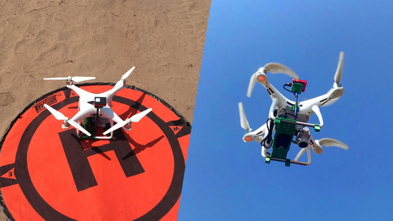 El equipo de CoatzaDrone capturó y procesó imágenes RGB y multiespectrales con el DJI Phantom 4 Pro montado con la cámara Parrot Sequoia