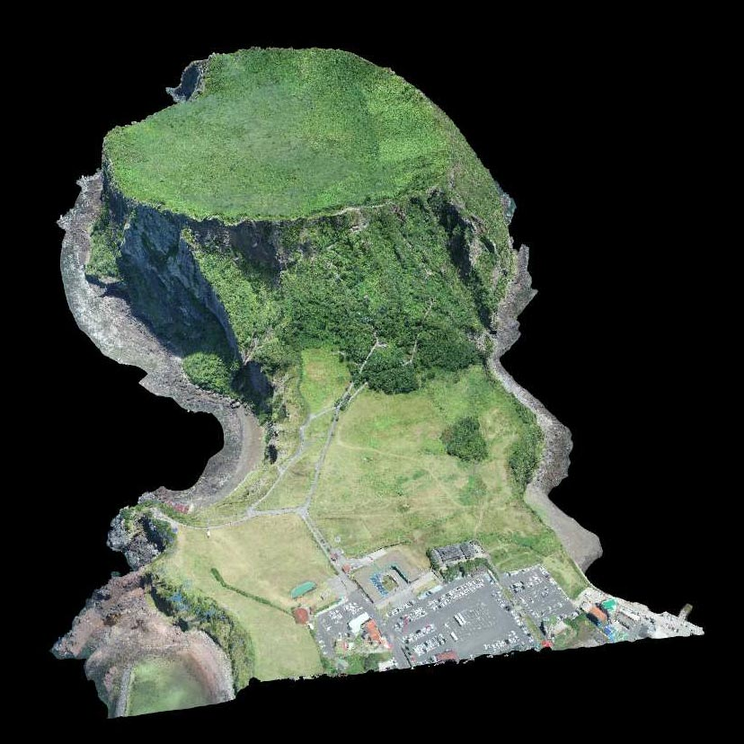 3D-drone-model-Beautiful-jeju-island,korea
