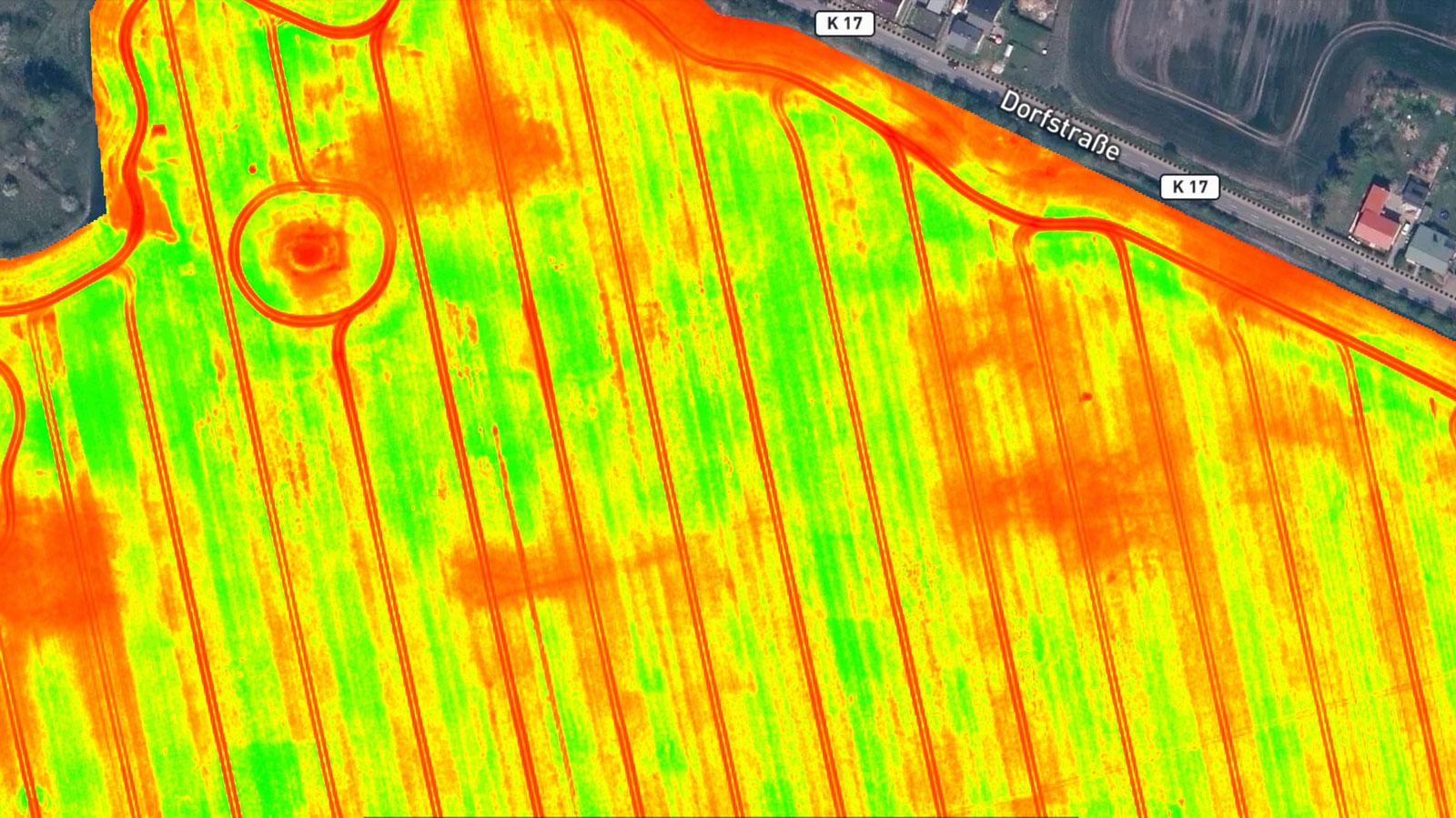 農業用植生指標のマップ出力