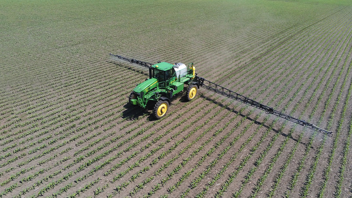 track in a agriculture field