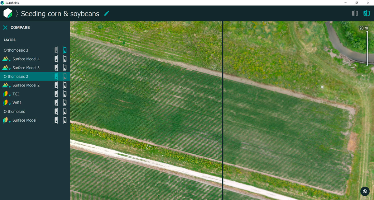 ground-sampling-distance for precision agriculture