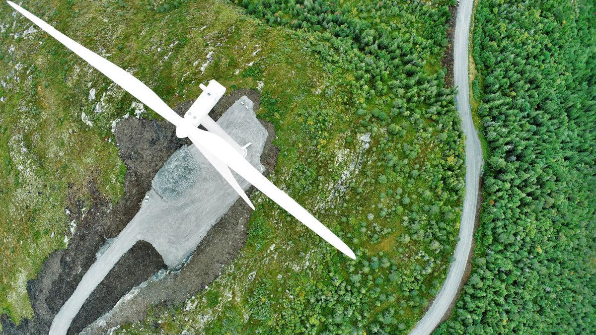 Windturbine HERO Surveying Image