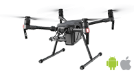 DJI Matrice 200 works best with Pix4Dcapture mobile app for drone mapping and photogrammetry