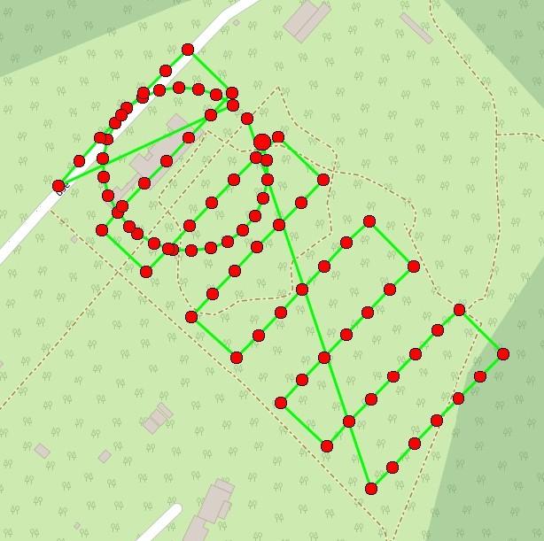 drone flight plan map for Chateau Lion in Paris