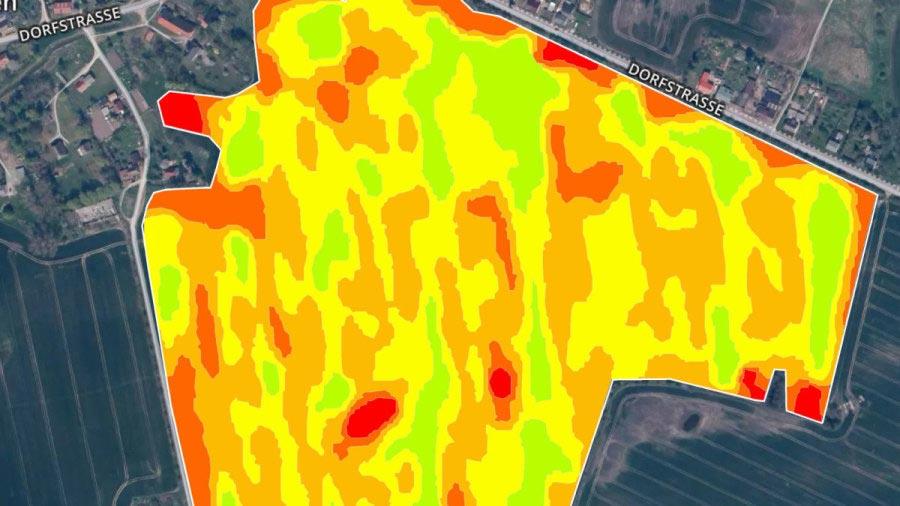 Ausgabe von Karten mit landwirtschaftlicher Zoneneinteilung