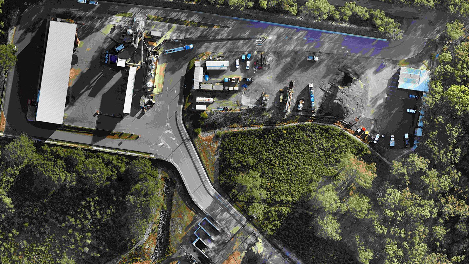 HEA BLO GEO asphalt stockpile volume measurements