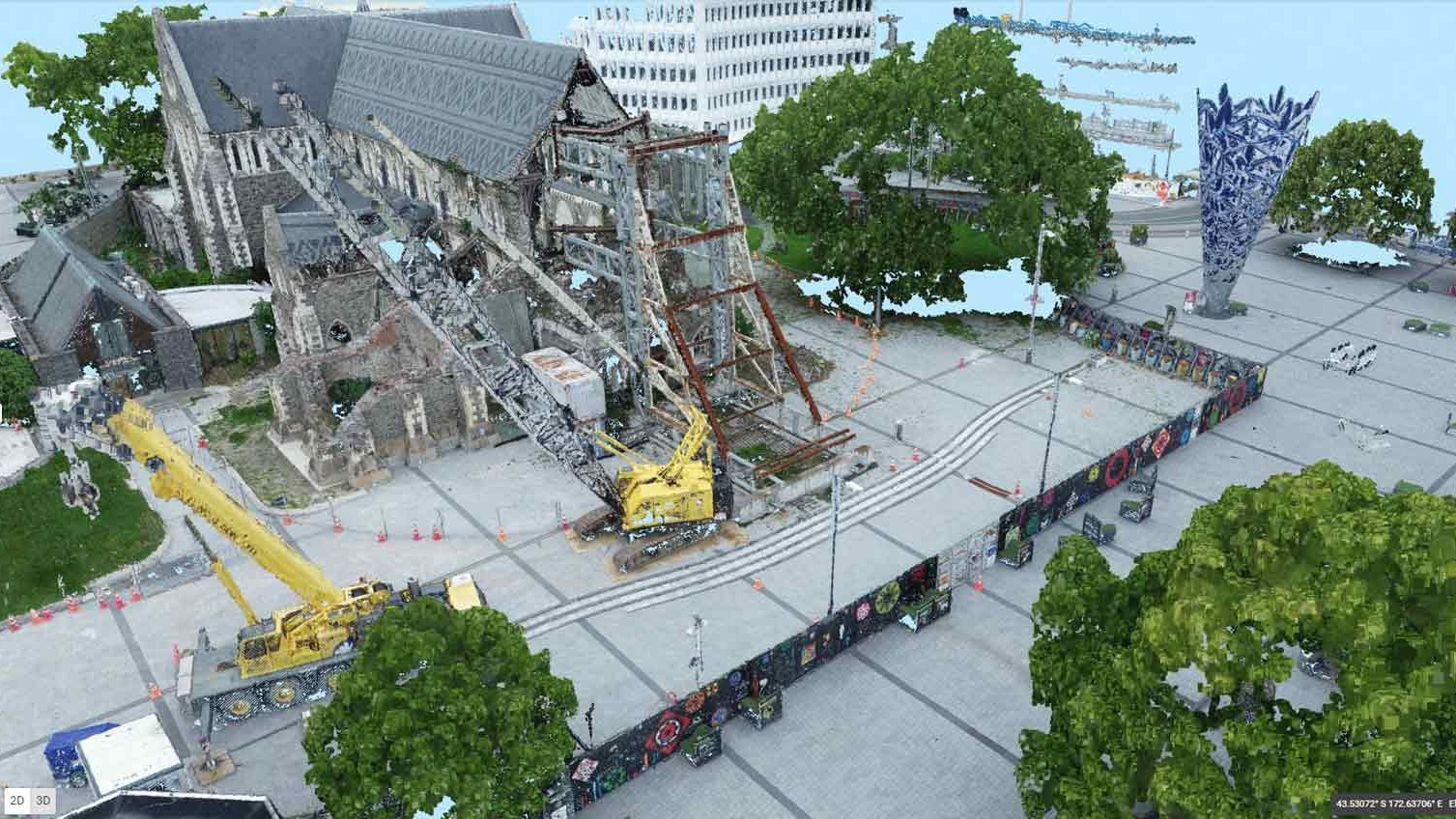 Modelo-3D-de-la-Catedral-de-Christchurch