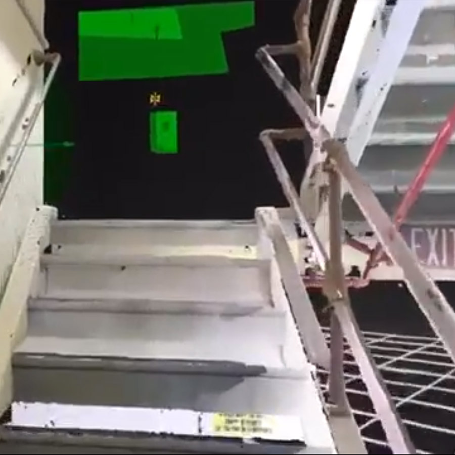 a metal stairwell modeled using LIDAR