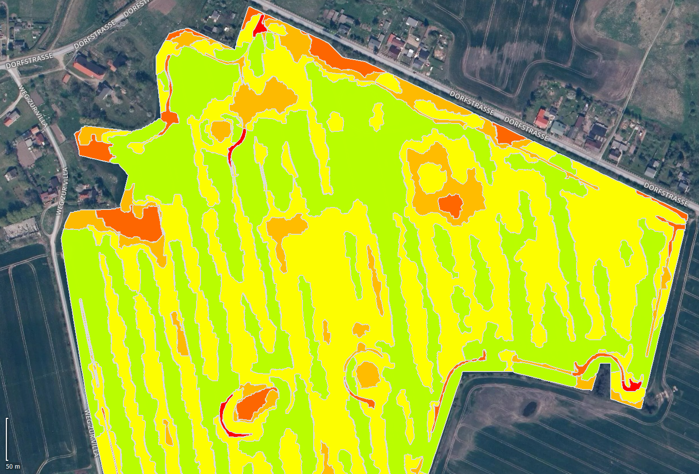 IMAGE OUTPUTS PIX4DFIELDS field boundaries