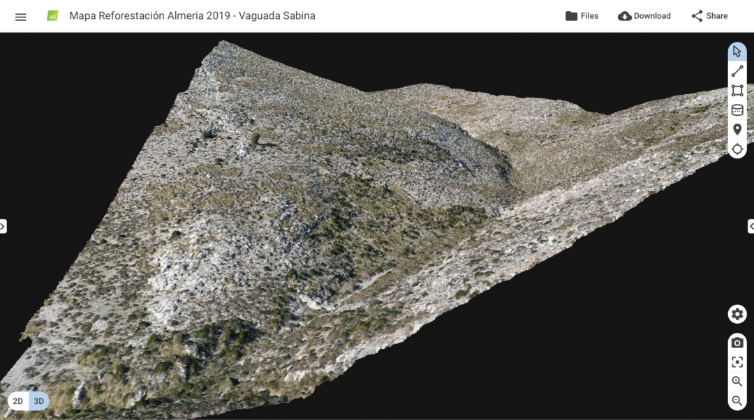 Reforestation with Pix4Dmapper photogrammetry software