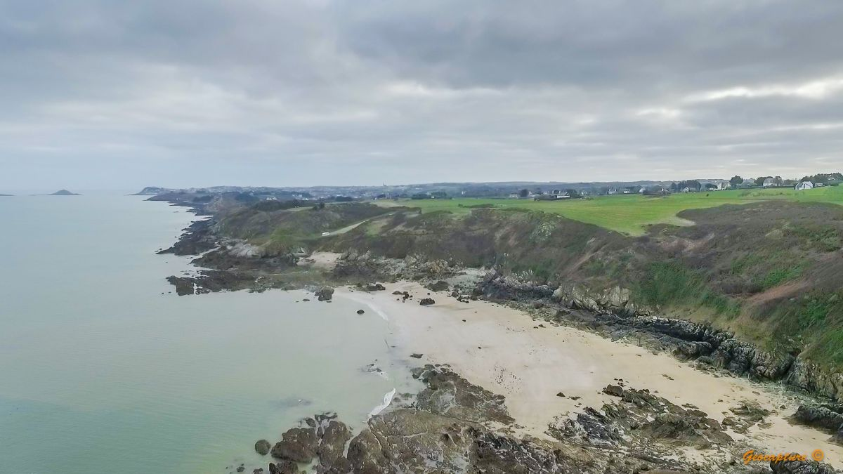 Drone image of a coastline