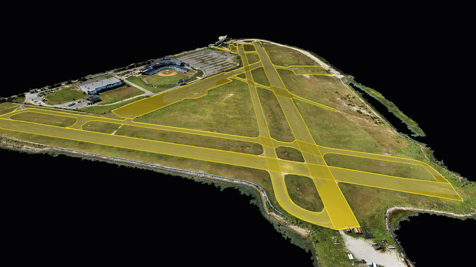 The airfield in a point cloud