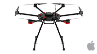 DJI Matrice 600 is one of the best drones for mapping and photogrammetry to use with Pix4Dcapture mobile app