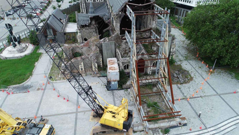 Inspeccionar un edificio dañado puede ser peligroso. El mapeo con el uso de drones reduce el riesgo y los costos para la comunidad.
