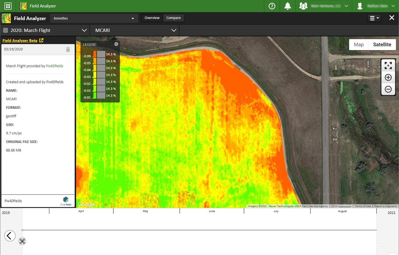 John Deere Field Analyzer Pix4Dfields index map