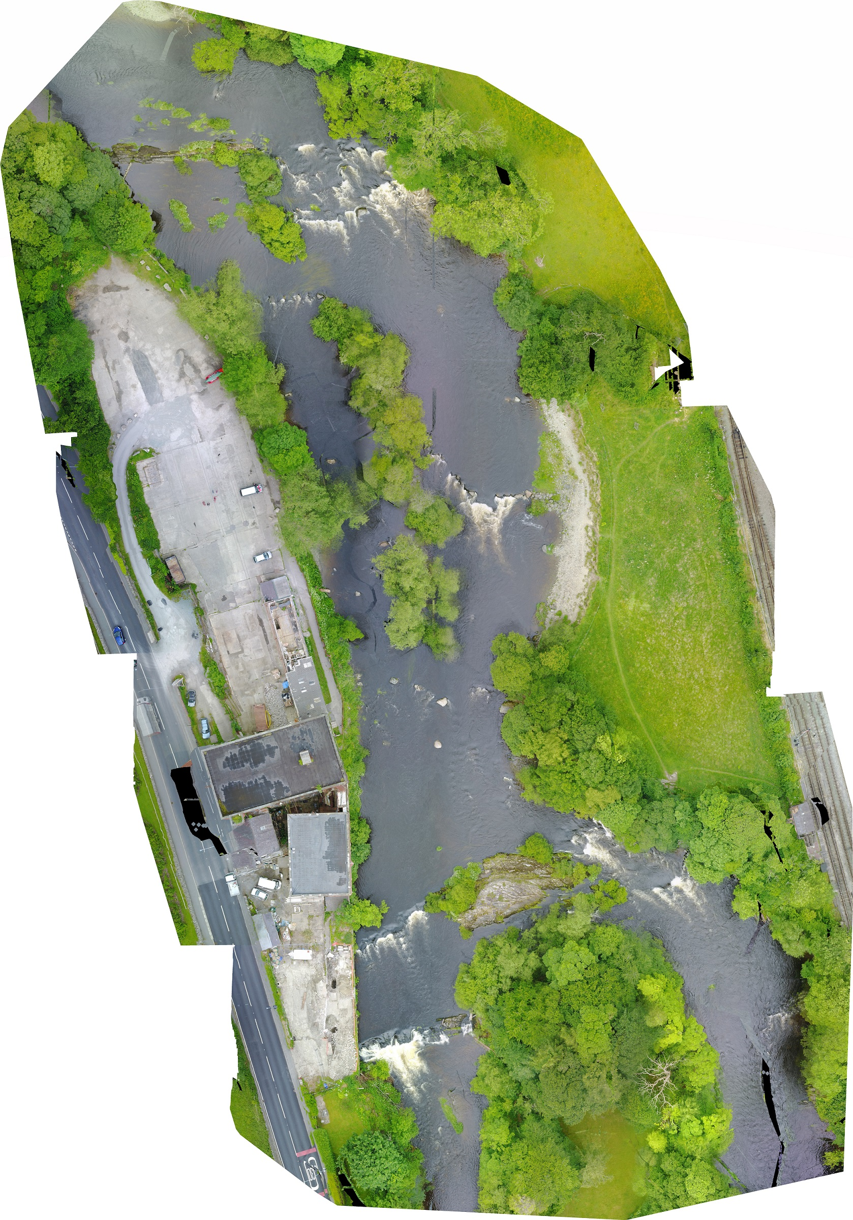 Essex river orthomosaic using drone mapping