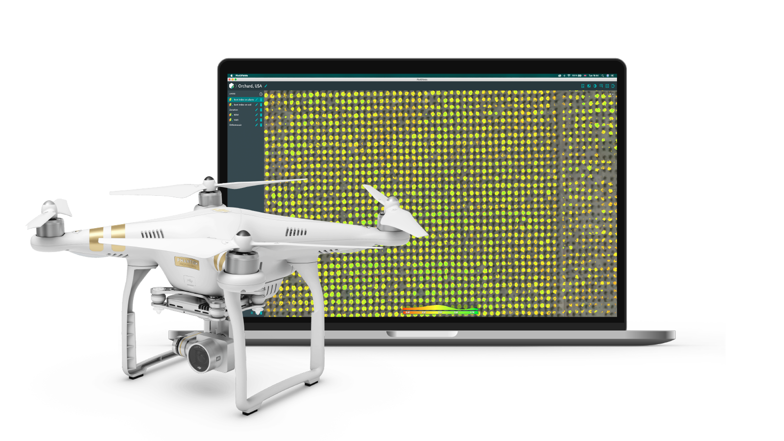 All in one agriculture mapping solution with Pix4dfields software and DJI Phantom 4 Pro drone with RGB sensor