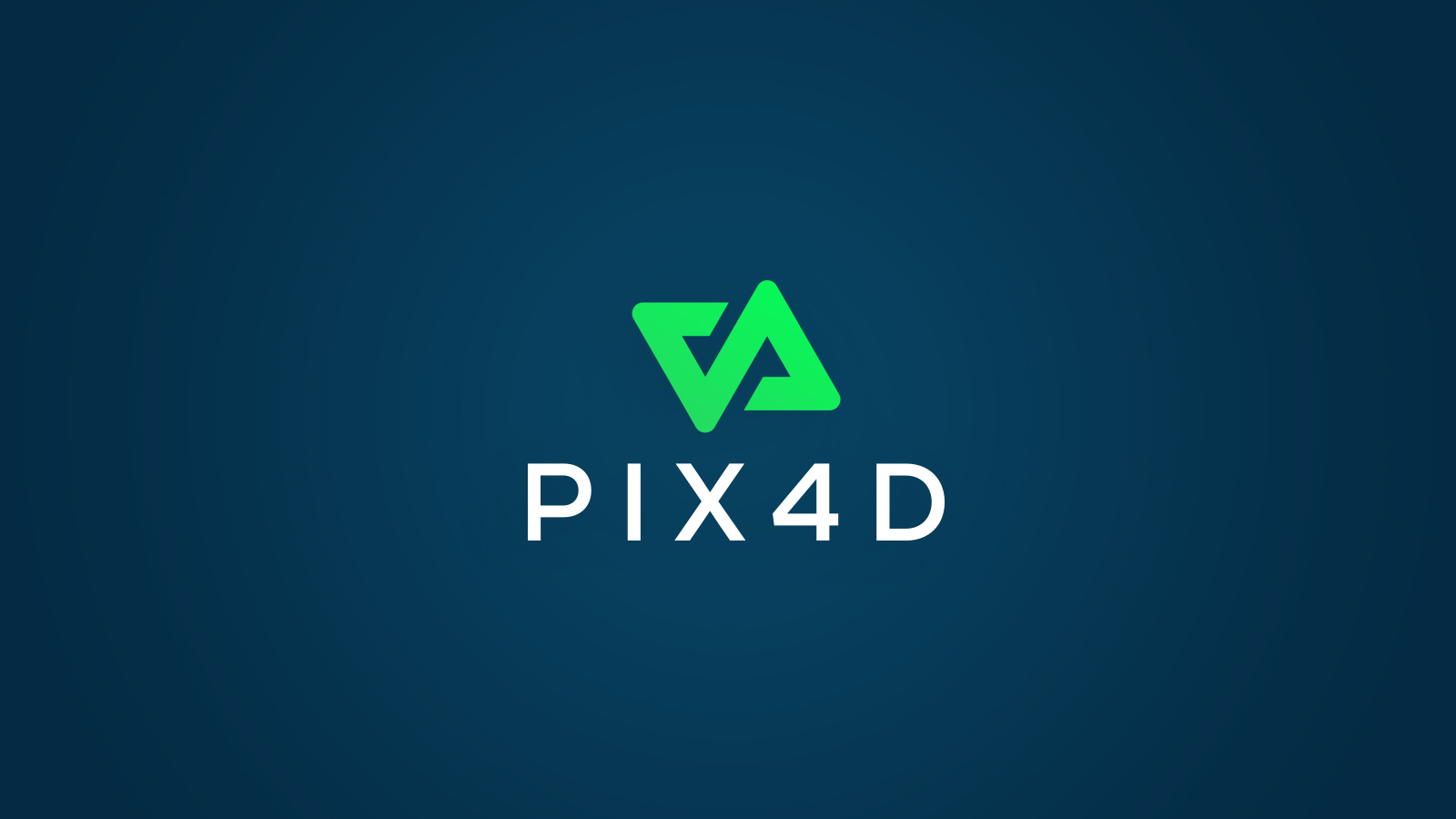 Pix4D new logo in green with a blue background